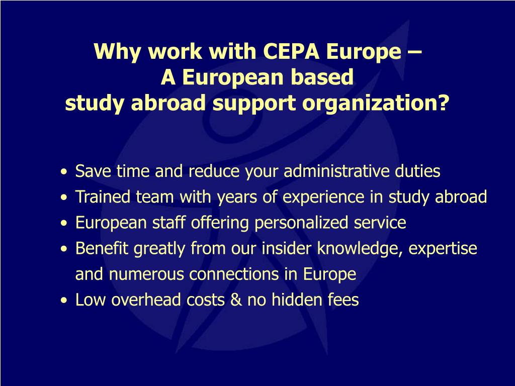 Why work with CEPA Europe –