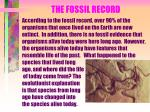 the fossil record13