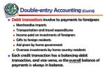 double entry accounting cont d