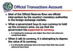 official transactions account