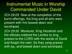 instrumental music in worship commanded under david9