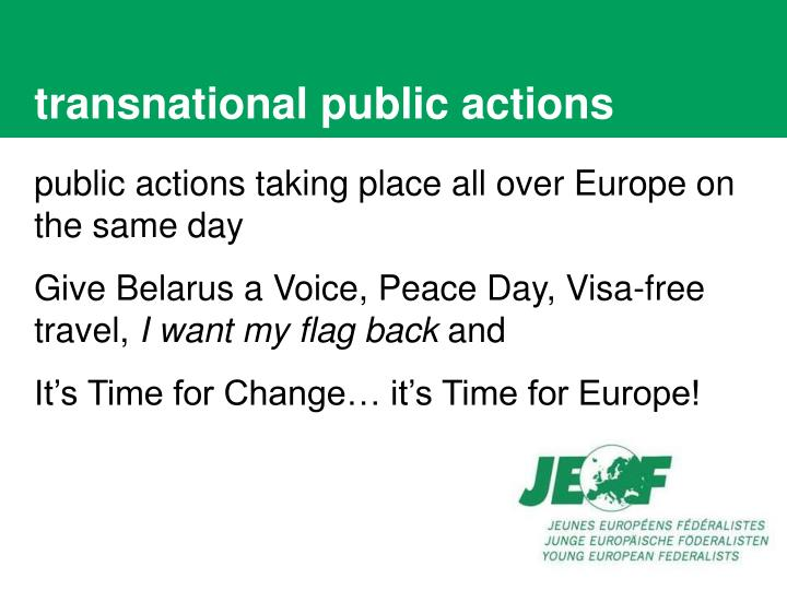 Transnational public actions