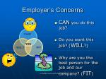 employer s concerns