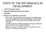 state of the art manuals in development