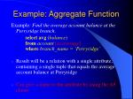 example aggregate function
