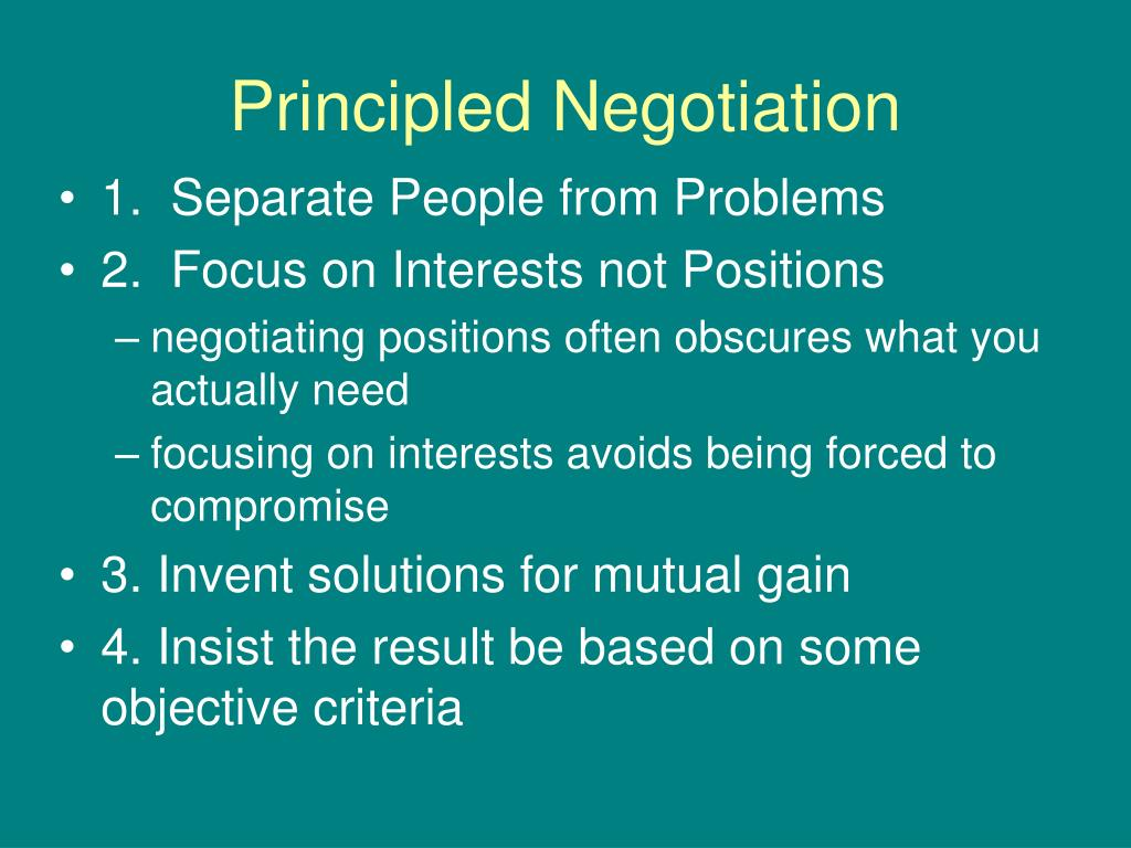 principled negotiation l.