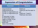 expression of congratulation