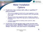 meter installation options