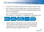 clc and e marketing for business tourism