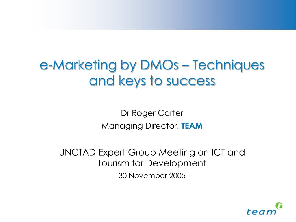 e-Marketing by DMOs – Techniques and keys to success