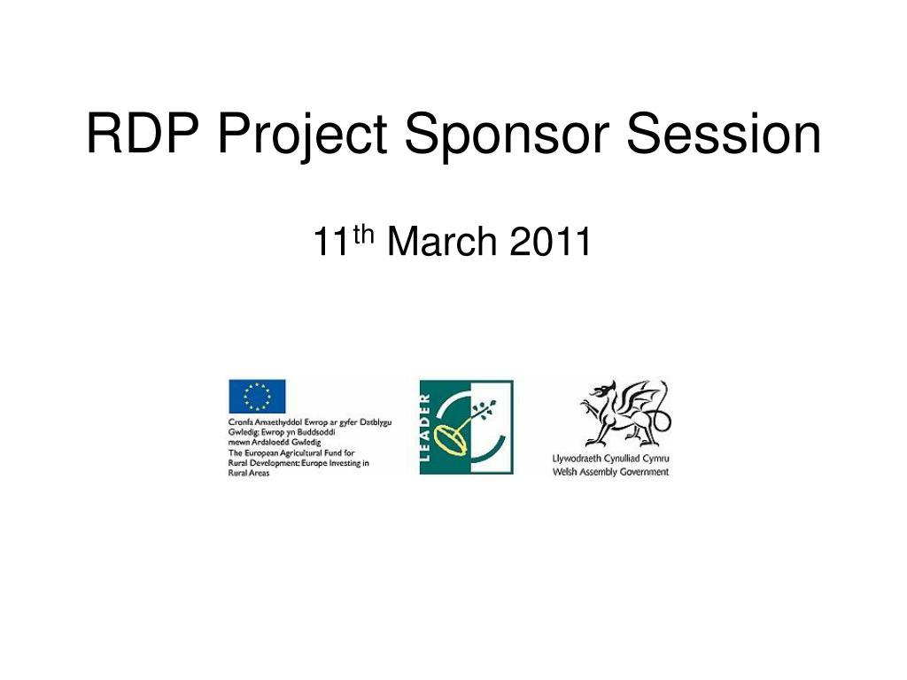 rdp project sponsor session l.