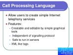 call processing language