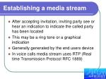 establishing a media stream