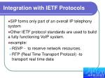 integration with ietf protocols