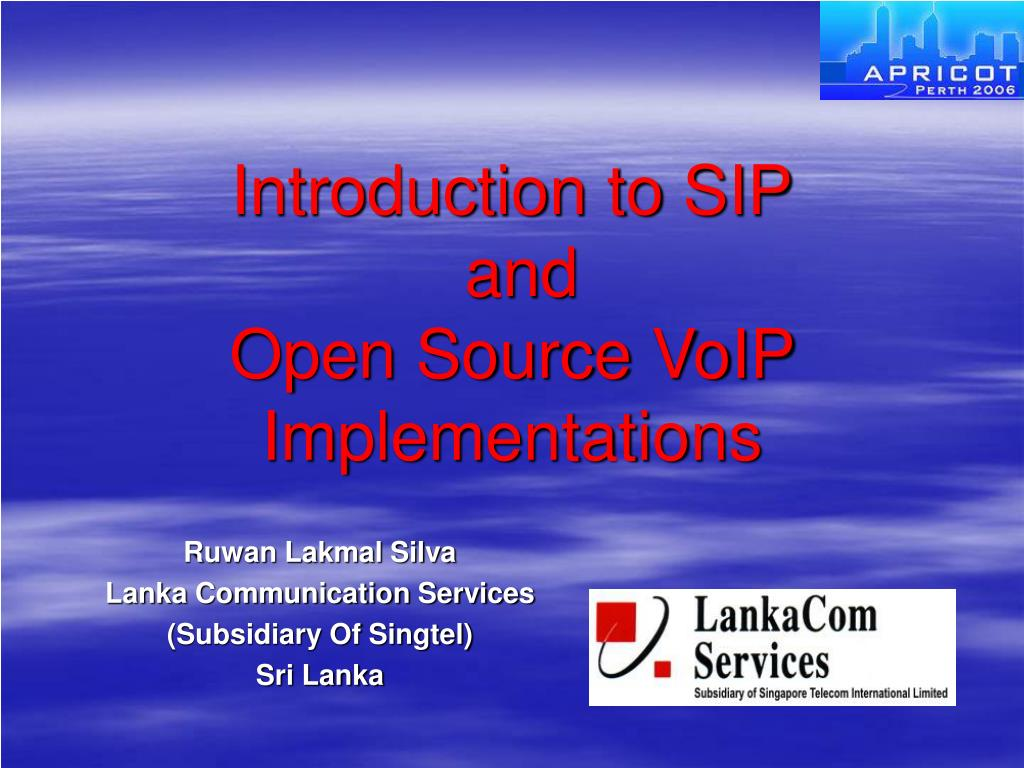 introduction to sip and open source voip implementations l.