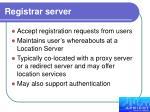 registrar server