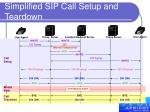 simplified sip call setup and teardown