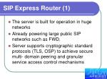 sip express router 1