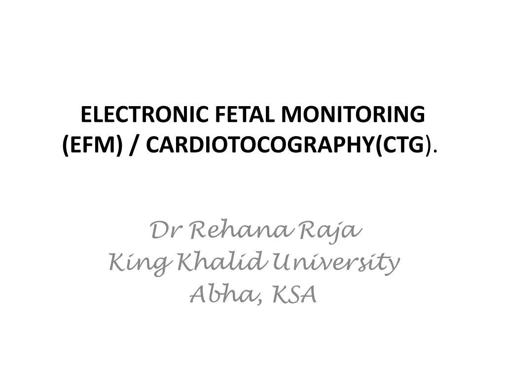 electronic fetal monitoring efm cardiotocography ctg l.