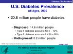u s diabetes prevalence all ages 2005