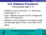 u s diabetes prevalence young people ages 0 9