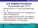 u s diabetes prevalence young people ages 10 19