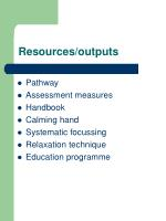 resources outputs