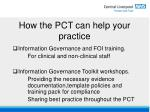 how the pct can help your practice