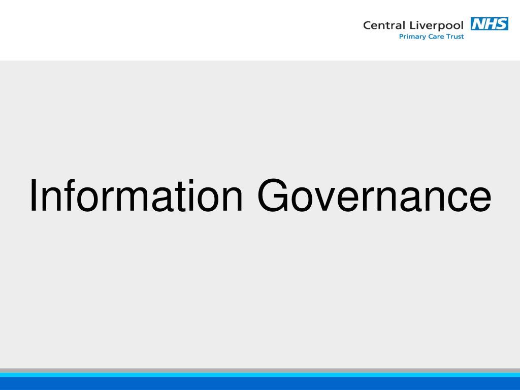 information governance l.