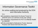 information governance toolkit