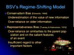 bsv s regime shifting model