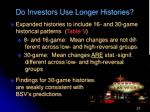 do investors use longer histories