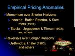 empirical pricing anomalies