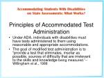 principles of accommodated test administration