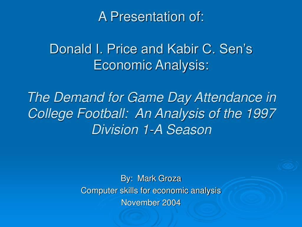 by mark groza computer skills for economic analysis november 2004 l.