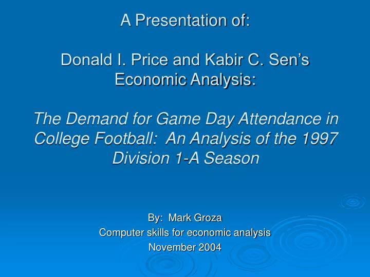 By mark groza computer skills for economic analysis november 2004