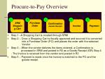 procure to pay overview