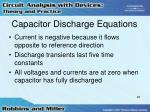 capacitor discharge equations