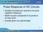 pulse response of rc circuits28