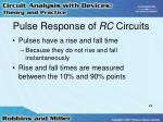 pulse response of rc circuits29