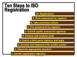 ten steps to iso registration