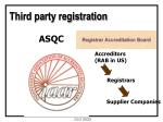 third party registration