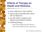 effects of therapy on health and wellness