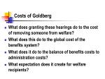 costs of goldberg