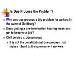 is due process the problem