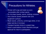 precautions for athletes