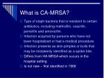 what is ca mrsa