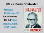 lbj vs barry goldwater