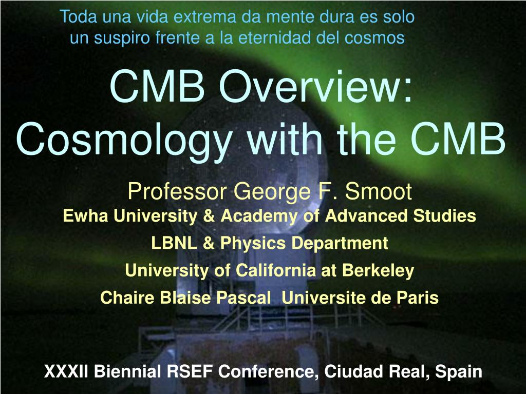 cmb overview cosmology with the cmb l.