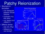 patchy reionization